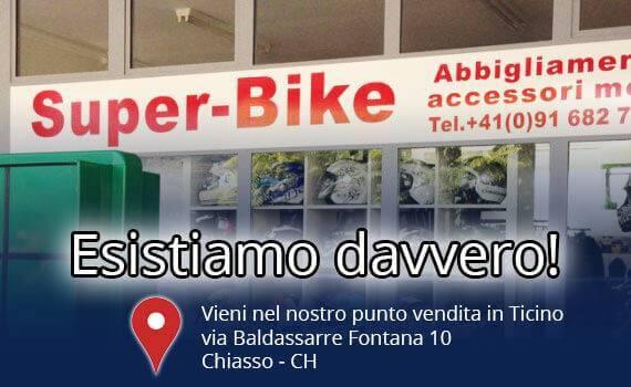 Super-Bike, point de vente à Chiasso, Tessin - Suisse moto vêtements et accessoires.