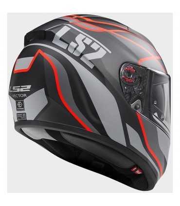 LS2 Vector FF397 Vantage black matt red