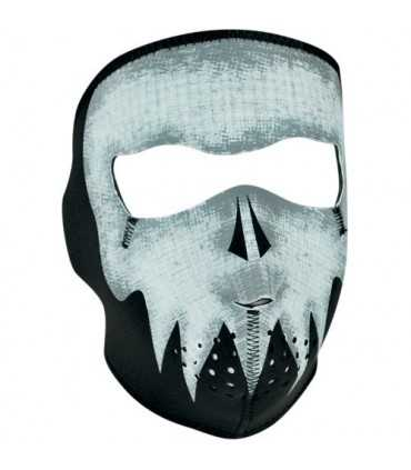 ZAN FULL FACE MASK GLOW-IN-THE-DARK GRAY SKULL ONE SIZE