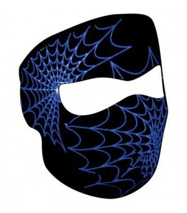 ZAN FULL FACE MASK GLOW-IN-THE-DARK SPIDER WEB ONE SIZE