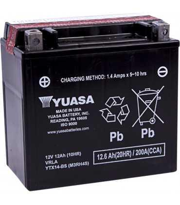 YUASA YTX14-BS BATTERIE 12V 150 MM X 86 MM X 145 MM LEAD ACID MAINTENANCE FREE