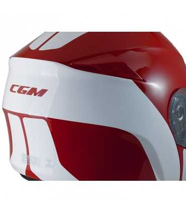 Casque CGM Berlino rouge blanc