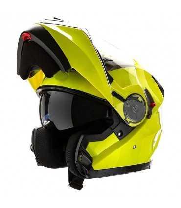 Casque Moto modulable Motocubo 925 jaune