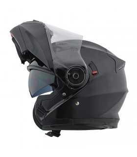 Motocubo 925 aufklappbarer Motorradhelm mattschwarz