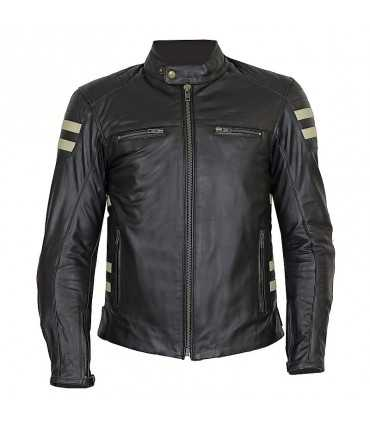 Motorcycle jacket Prexport Stripes black beige