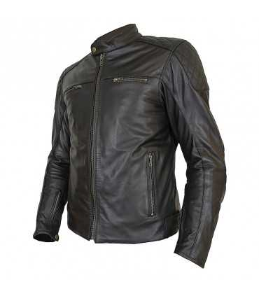 Prexport Diamond leather jacket black