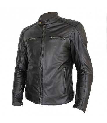 Veste en cuir femme Prexport Diamond noir