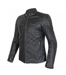 Motorcycle jacket lady Prexport Stripes black