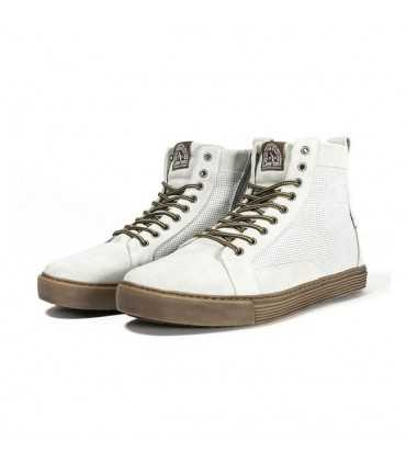 JOHN DOE MOTORCYCLE SNEAKERS NEO WHITE BROWN CE