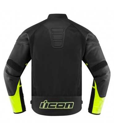 Icon Contra 2 leather jacket black yellow