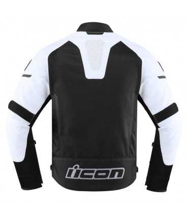 Icon Contra 2 leather jacket perforated black white