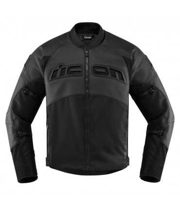 Icon Contra 2 leather jacket perforated black