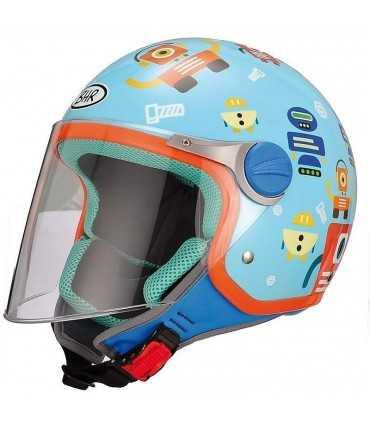 Casque jet enfant BHR Robot bleu