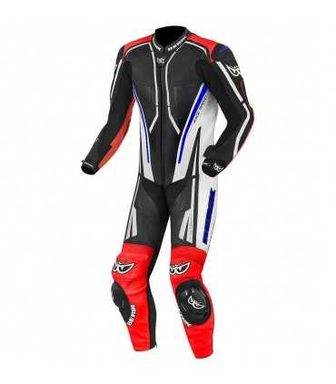 Leather suit Berik GP Pro Losali black blue red