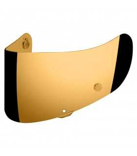 TRACSHIELD Gold visor for Icon Airmada, Airframe pro, Airform