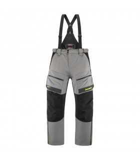 Icon Raiden pantalons impermeable CE gris jaune
