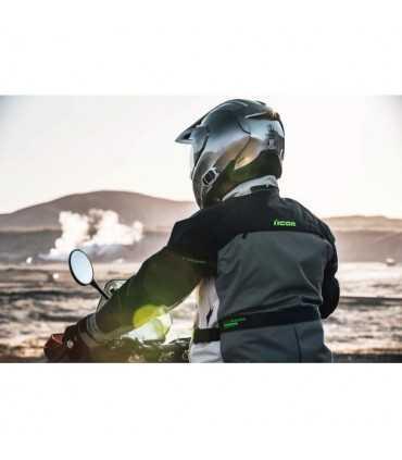 Veste moto Icon Raiden gris