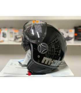 MOMO Fighter Evo noir logo gris matt
