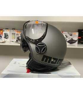 MOMO FGTR EVO matt  titan/noir