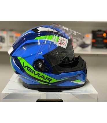 Vemar Zephir Lunar blue yellow helmet