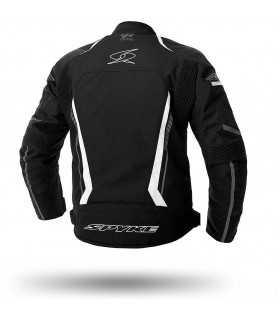 Giacca moto Spyke Daytona dry tecno sport nero bianco