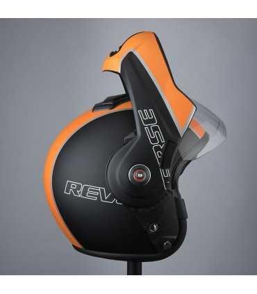 Casco moto apribile Bhr Reverse Cool nero opaco arancio