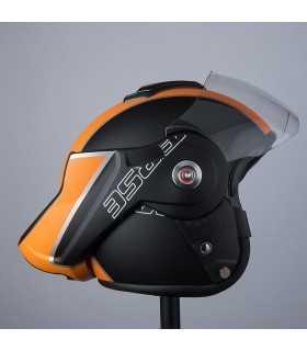 Casque moto modulaire Bhr Reverse Cool noir matt orange