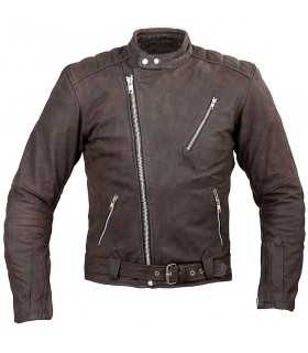 A-PRO POKER LEATHER jacket brown
