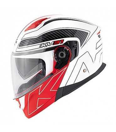 Kappa Arizona Bigger modular helmet white red