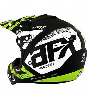 AFX FX-17 Attack black matt green mx cross