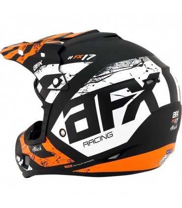 AFX FX-17 Attack black matt orange mx cross