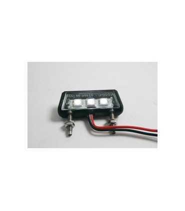 LED LICENSE PLATE LIGHT CLEAR LENS 69mm black