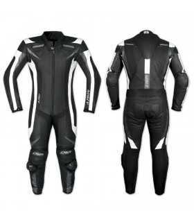A-Pro Blade leather suit motorcycle black white