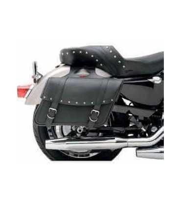SADDLEMEN Pair saddlebag Synthetic Leather with rvt, 3 sizes
