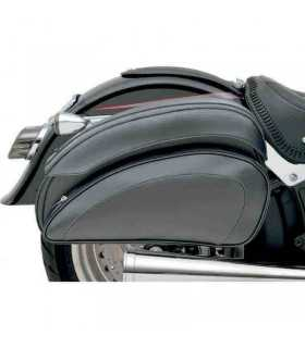 SADDLEMEN Cruis'n Deluxe Slant Saddlebag Set universali+supporti