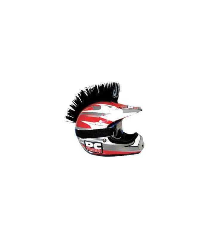 cresta per casco  Cresta adesiva per casco nera PC RACING