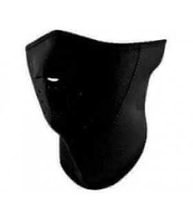 ZAN HEADGEAR HALF FACE MASK 3-PANEL WITH NECK SHIELD BLACK ONE SIZE