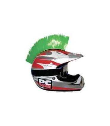 Cresta adesiva per casco verde