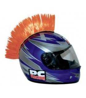 Cresta adesiva per casco arancione