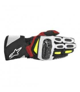 Alpinestars Sp-2 Leather Glove white red yellow