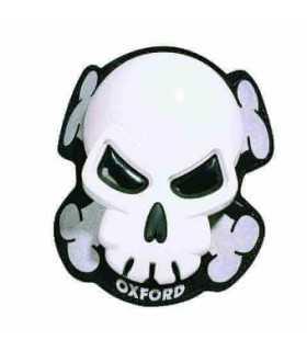 Oxford Pair Of Skull Knee Sliders blanc
