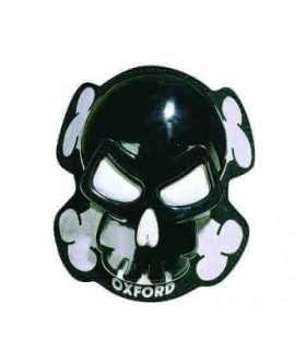 Oxford Pair Of Skull Knee Sliders black