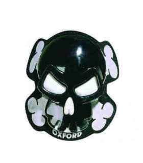 Oxford Pair Of Skull Knee Sliders noir