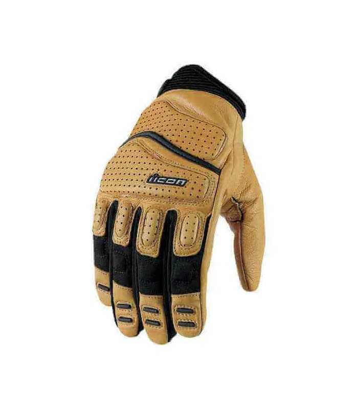Icon Superduty 2 Glove tan SBK_1490 ICON GUANTI MOTO IN PELLE