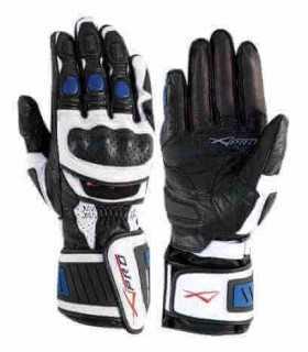 A-Pro Cobra leather glove white blue