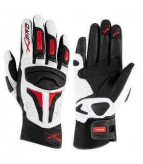 A-Pro leather glove Firepower white/red