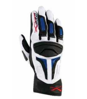 A-Pro leather glove Firepower white/blue