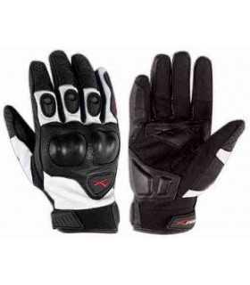 Schwarz weiß A-PRO Block Motorrad Handschuhe