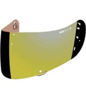 Gold visor for Icon Airmada, Airframe pro, Airform