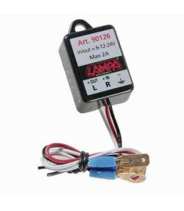 Electronic flasher device for Led indicators 6/12/24V